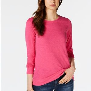 Maison Jules Pink High Low Tee Size M